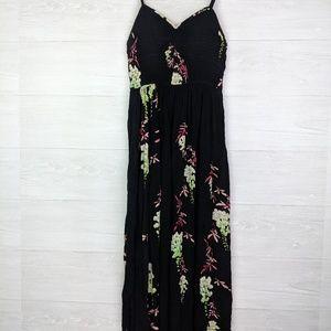 Free People Black Floral Beau Maxi Dress